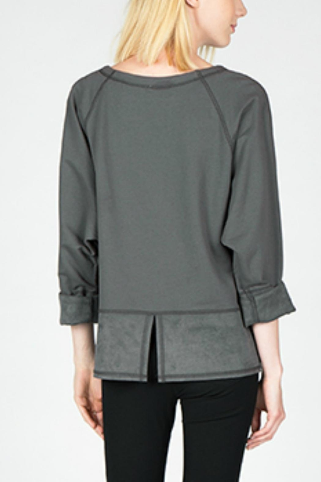 Mur Mur Faux Suede Top - Side Cropped Image
