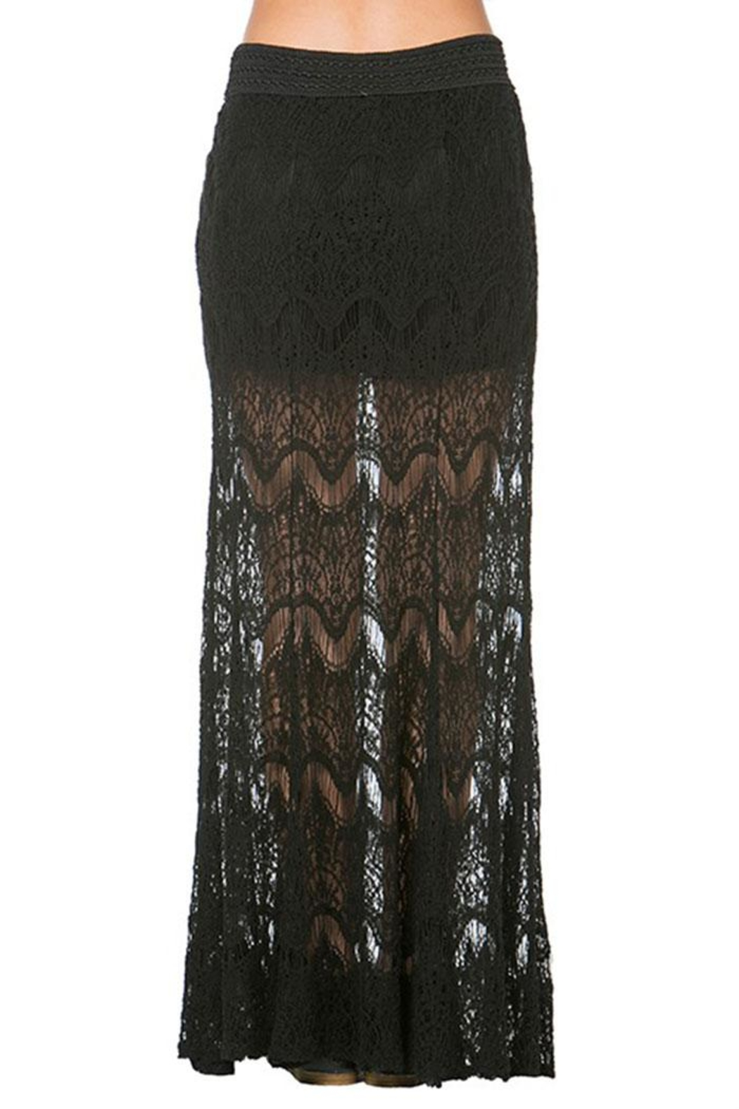 Mur Mur Lace Maxi Skirt - Side Cropped Image