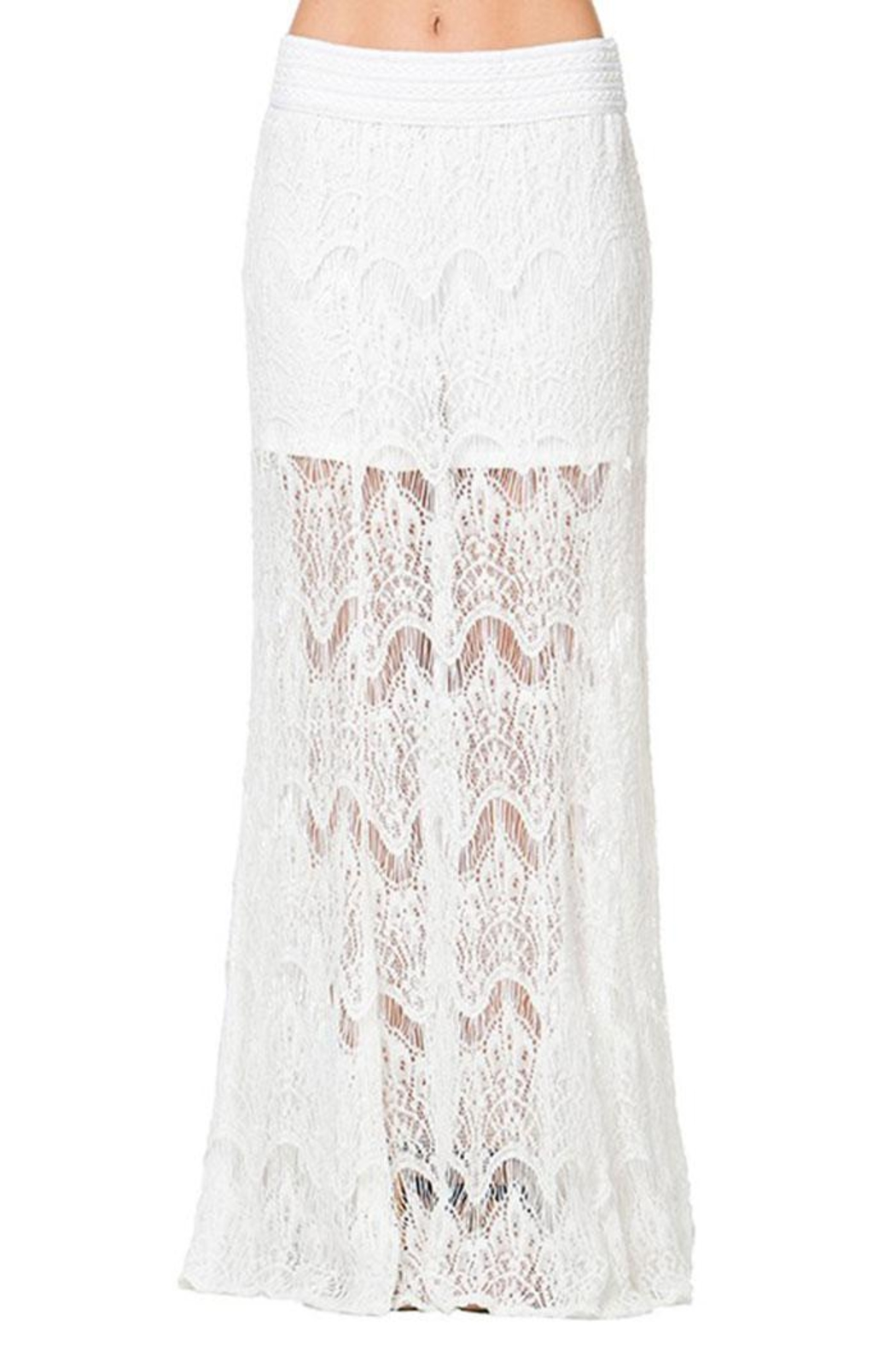 Mur Mur Lace Maxi Skirt - Front Cropped Image