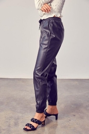 Muse Boxy Leather Jogger Pants - Side cropped