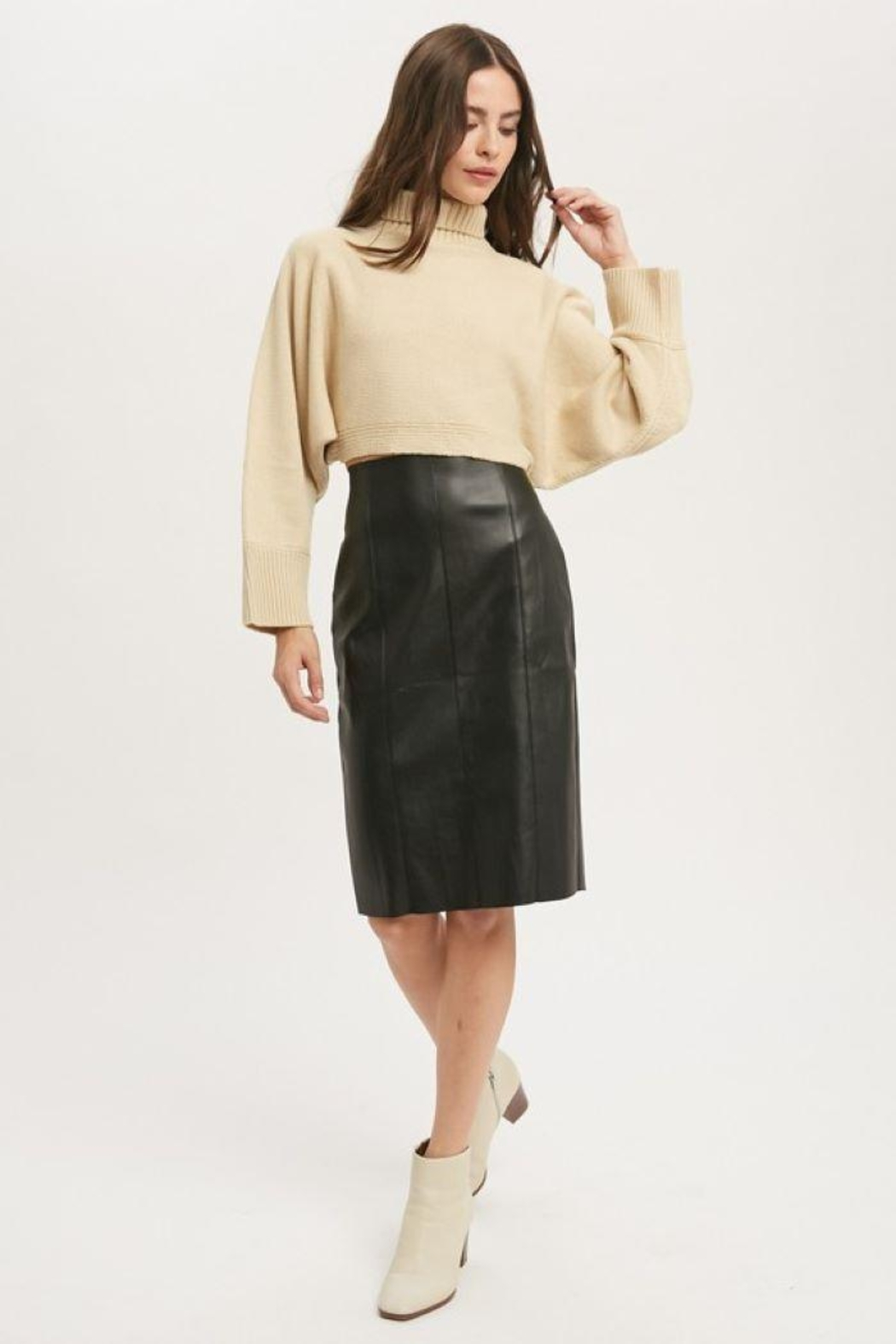 Muse Faux Leather Skirt - Main Image