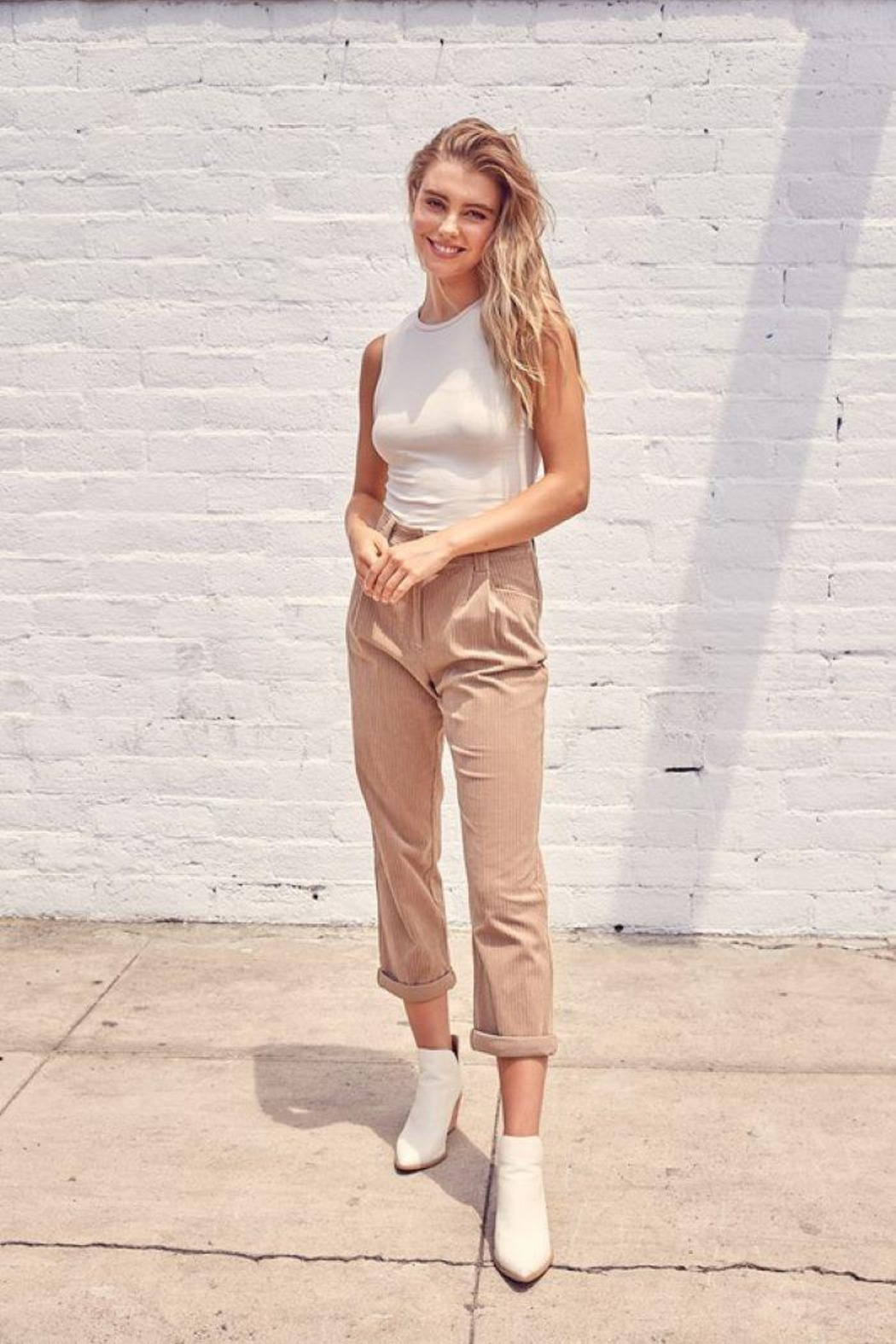 Muse Mixed Corduroy Trousers - Main Image