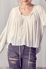 Muse Poetry In Motion Cotton Bohemian Blouse In Ivory - Product Mini Image