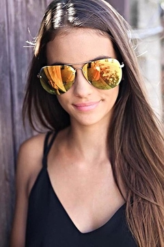 Quay Australia Muse Sunnies Gold/red - Alternate List Image