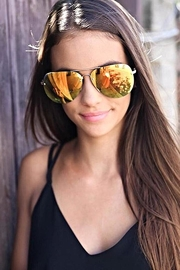 Quay Australia Muse Sunnies Gold/red - Product Mini Image