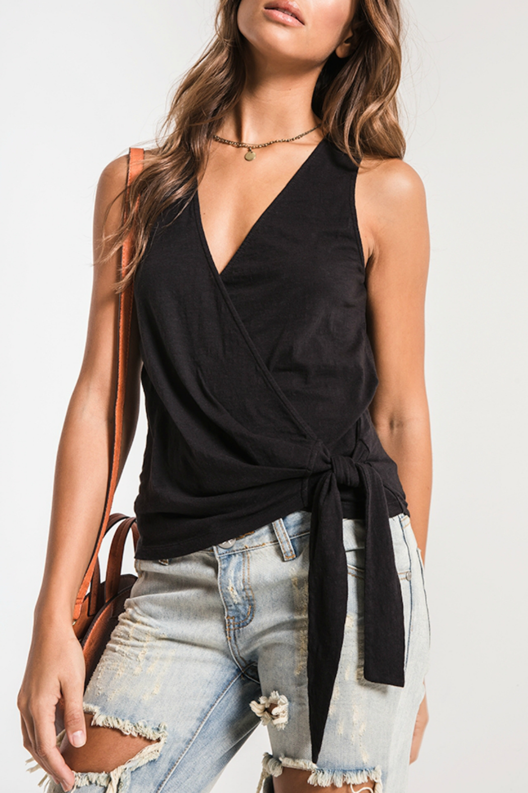 z supply Muse Wrap Tank - Front Cropped Image
