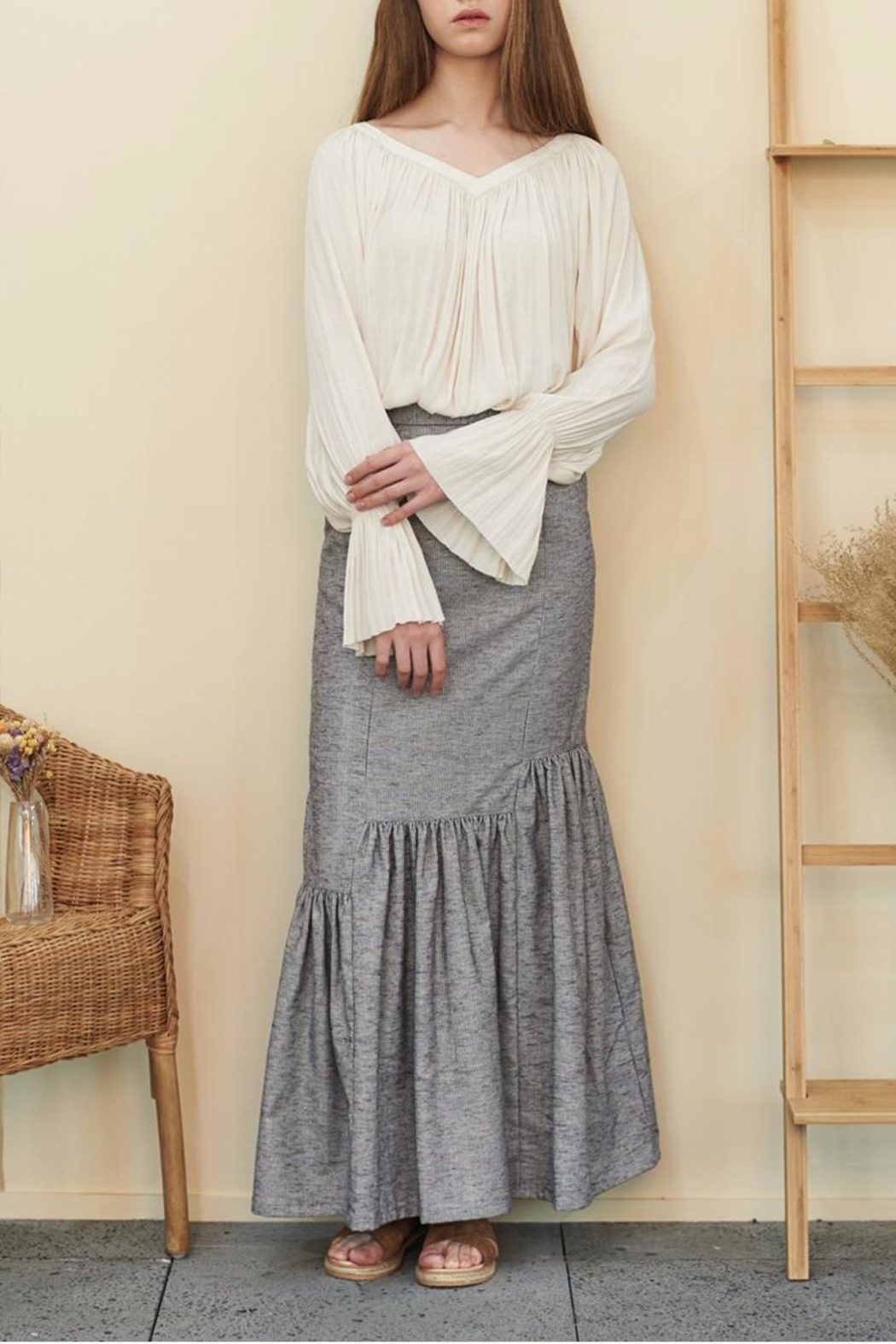 Muse by Rose Crepe Flowy Blouse - Main Image