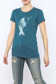 Mushpa + Mensa Narwhal T-Shirt - Product Mini Image