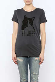 Mushpa + Mensa Cat Jefe T-Shirt - Side cropped