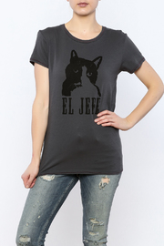 Mushpa + Mensa Cat Jefe T-Shirt - Front cropped