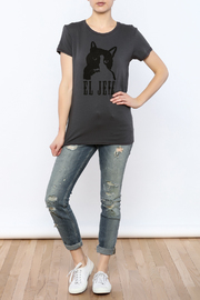 Mushpa + Mensa Cat Jefe T-Shirt - Front full body