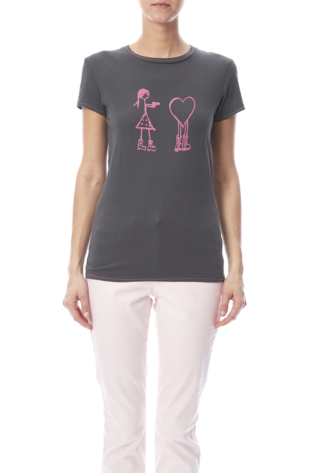 Mushpa + Mensa Love Hostage T-Shirt - Side Cropped Image