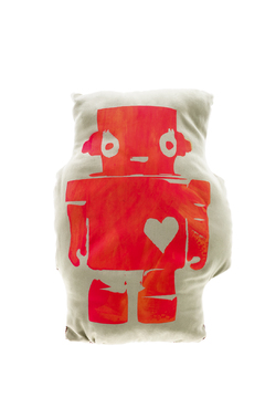 Mushpa + Mensa Robot Love Pillow - Alternate List Image