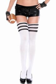 Music Legs Thigh High Socks - Product Mini Image