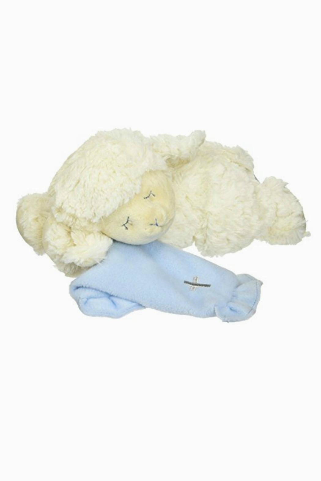 DEMDACO Musical-Plush-Lamb In Blue - Front Cropped Image