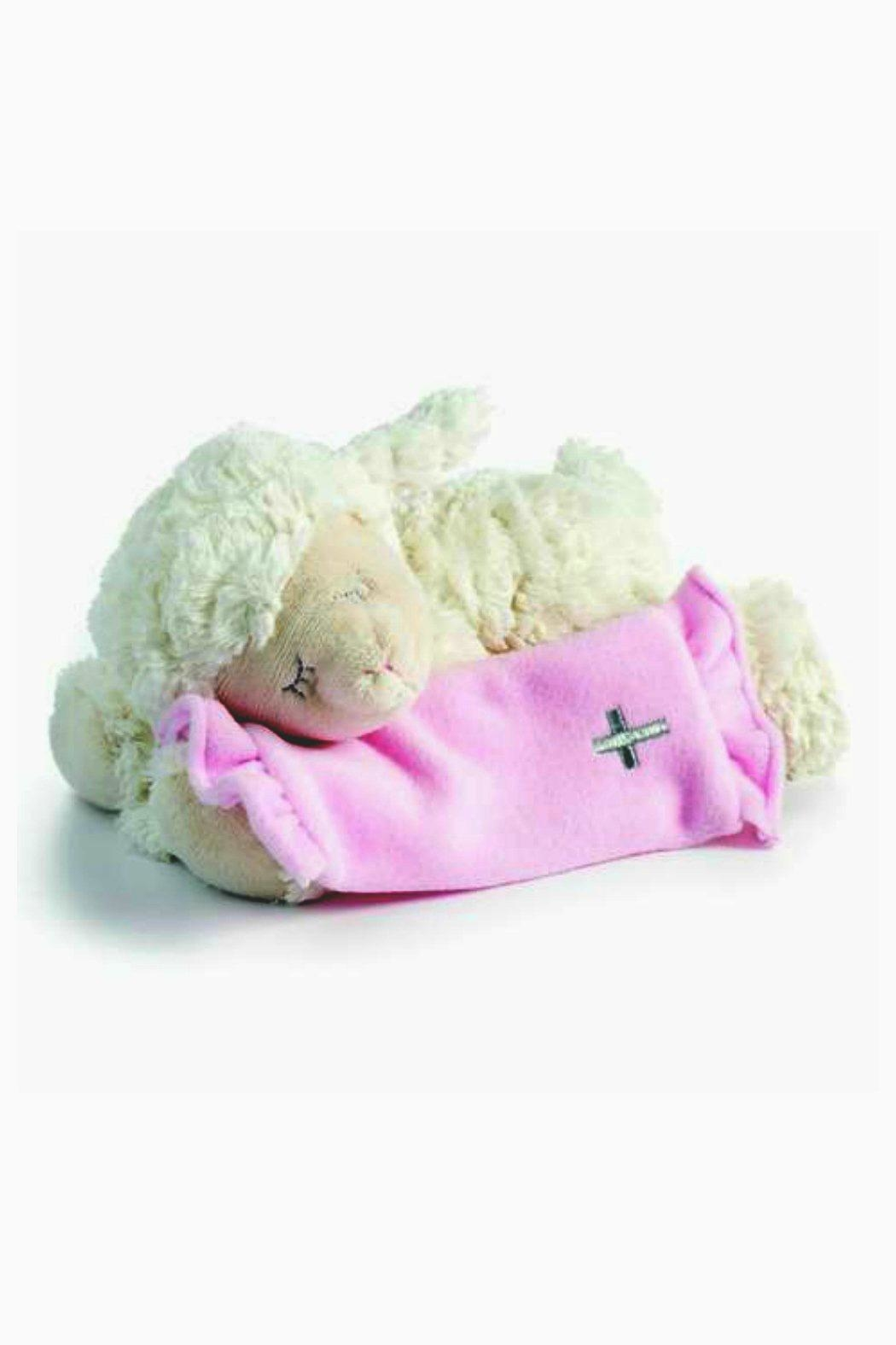 DEMDACO Musical-Plush-Lamb In Pink - Front Cropped Image