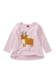 Tea Collection Musk Deer Baby Girl Tee - Front cropped