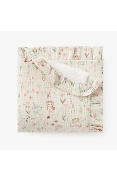 Shoptiques Product: Muslin Blanket With Fur Back - Owl Print