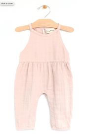 City Mouse Muslin Lace Back Romper - Product Mini Image