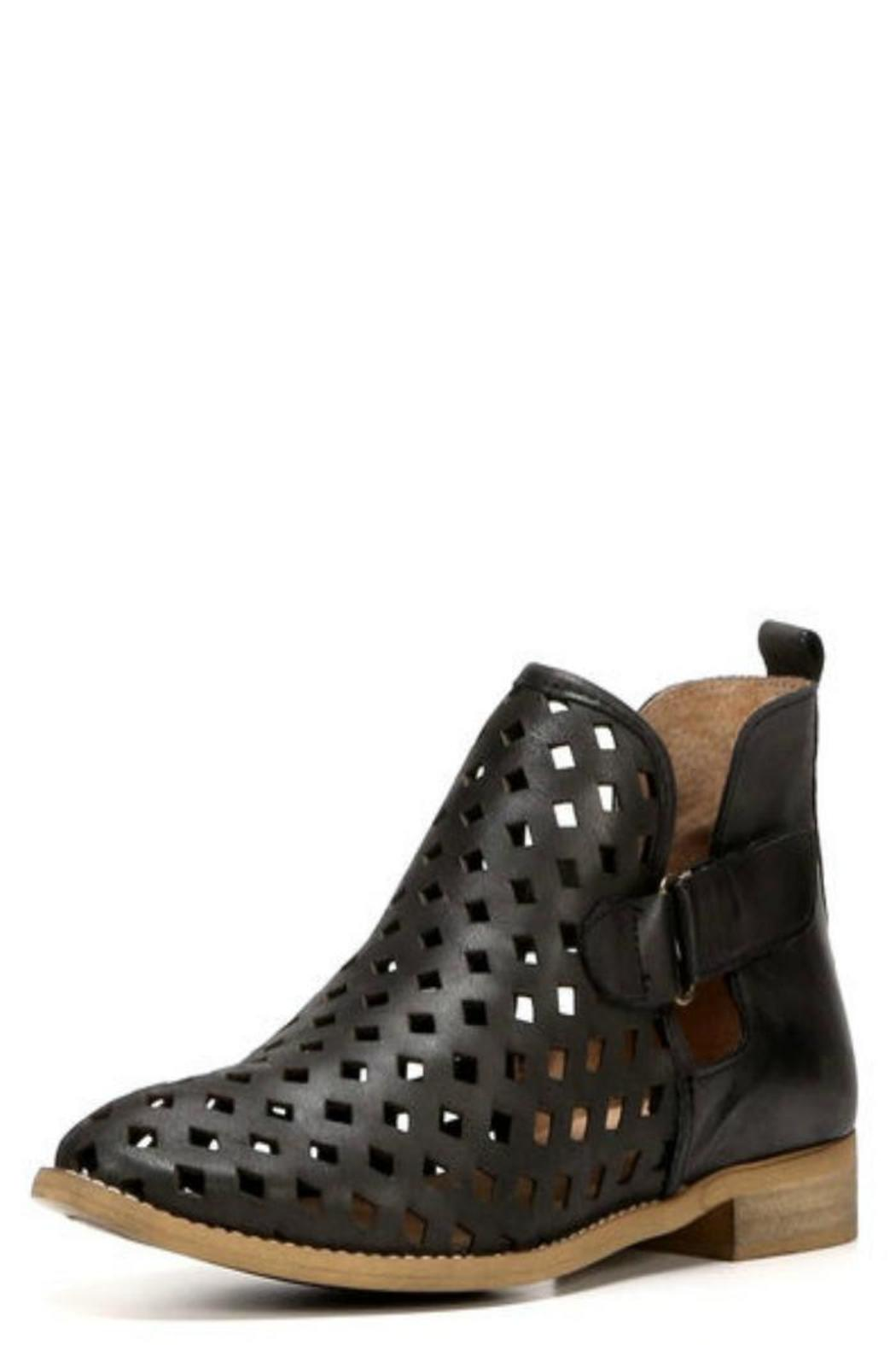 Caila Geometric Cutout Booties