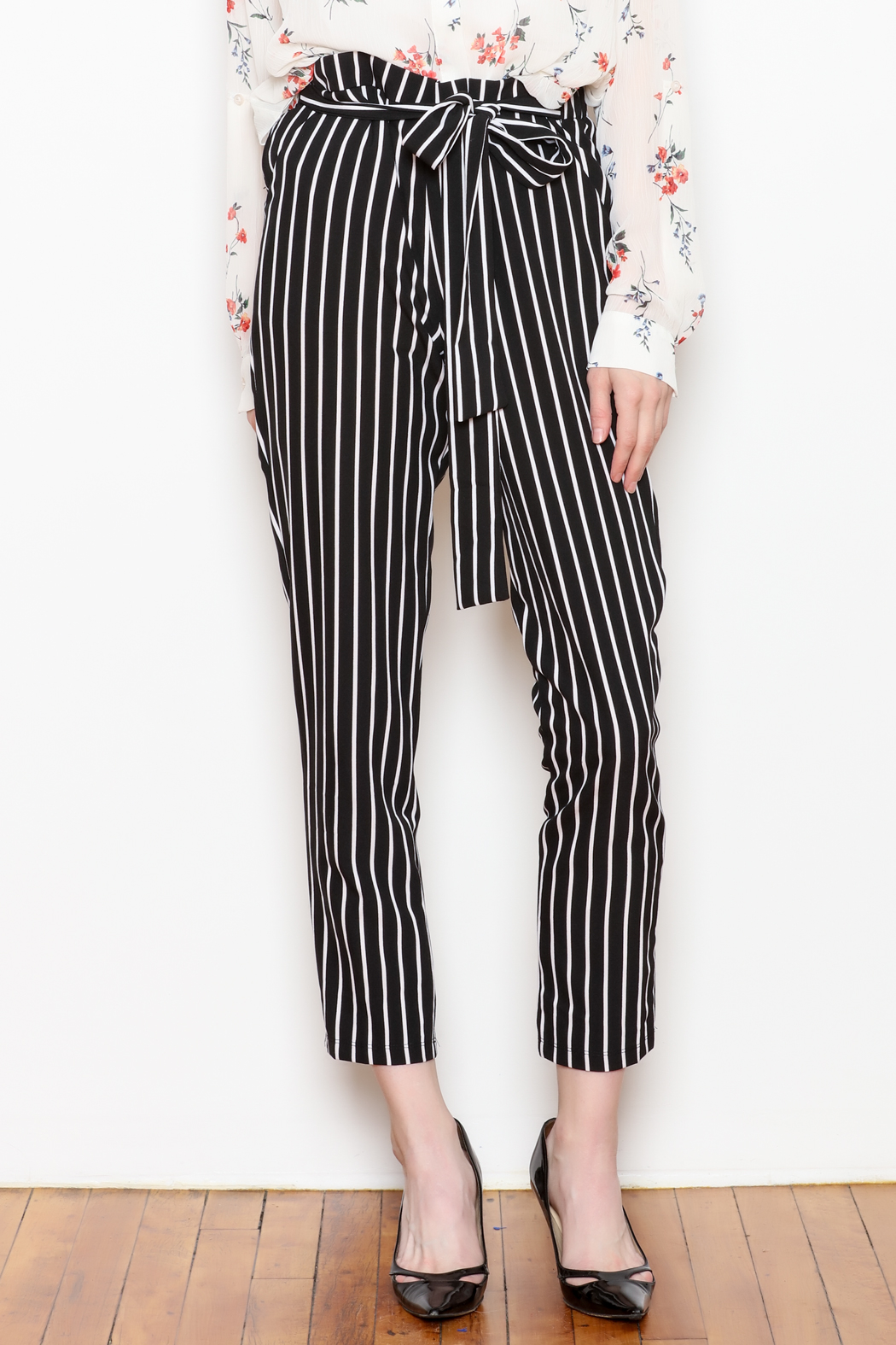 6c2c1cd215374 Must Have Bow Stripe Pants from New York by Dor L Dor — Shoptiques