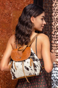 Shoptiques Product: Must Have Cowhide Tooled Leather Backpack