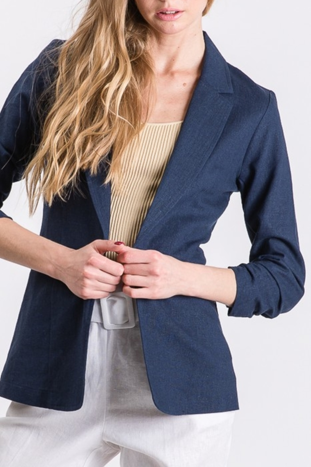 Must Have Linen Blazer - Front Cropped Image