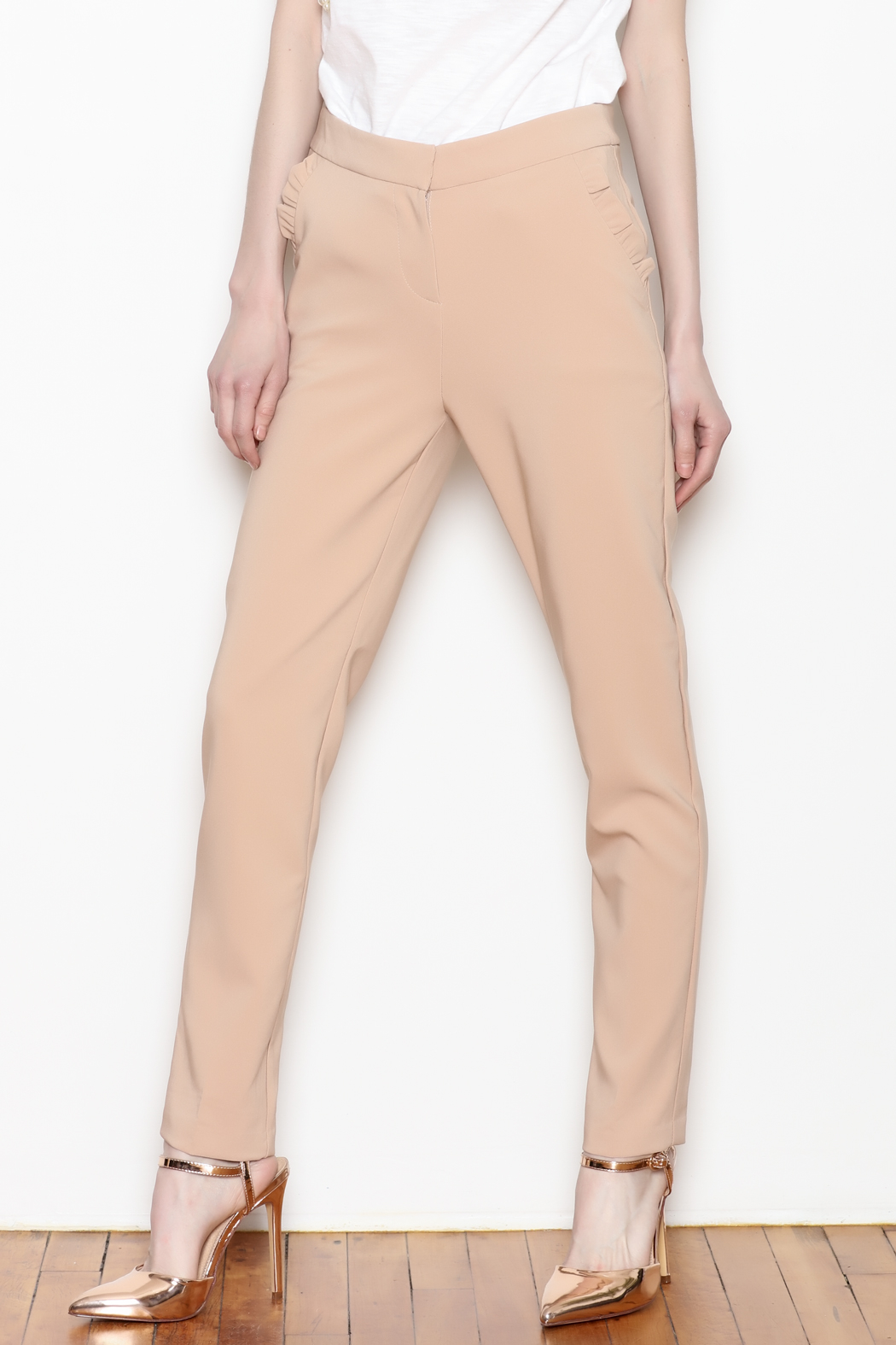 Must Have Ruffle Pocket Trousers - Front Cropped Image