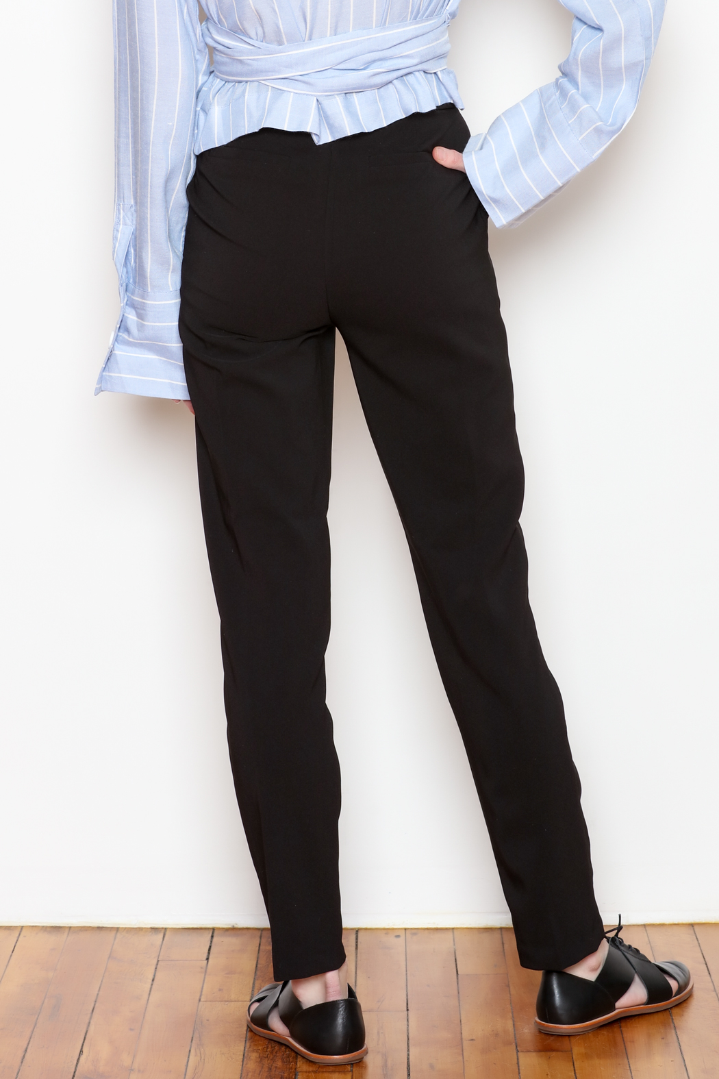 Must Have Ruffle Pocket Trousers - Back Cropped Image