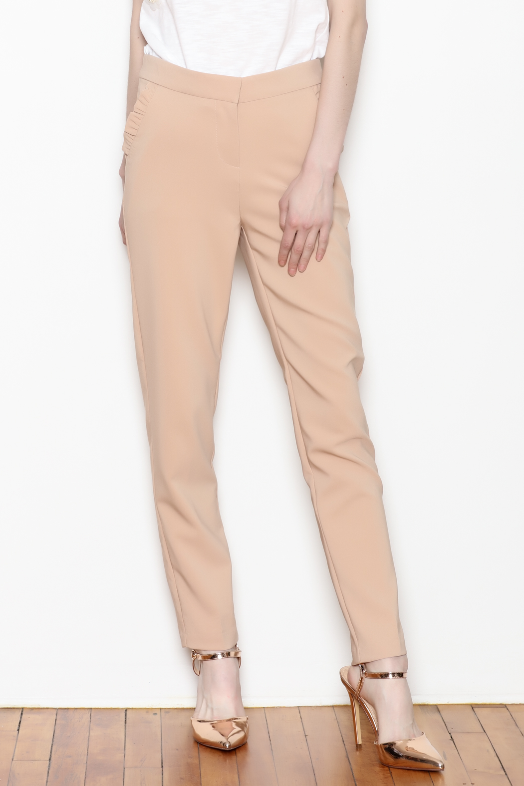 Must Have Ruffle Pocket Trousers - Front Full Image