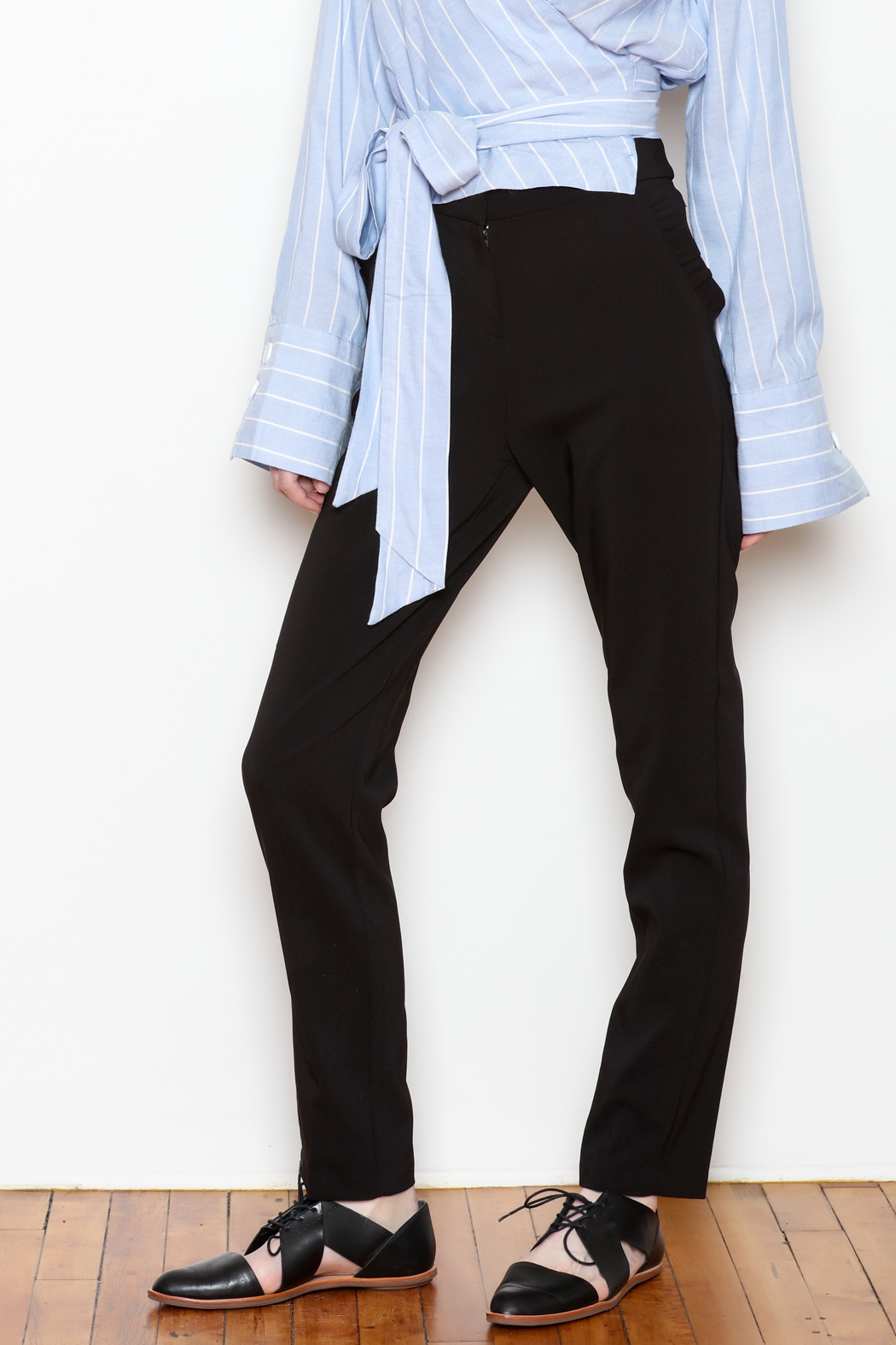 Must Have Ruffle Pocket Trousers - Main Image