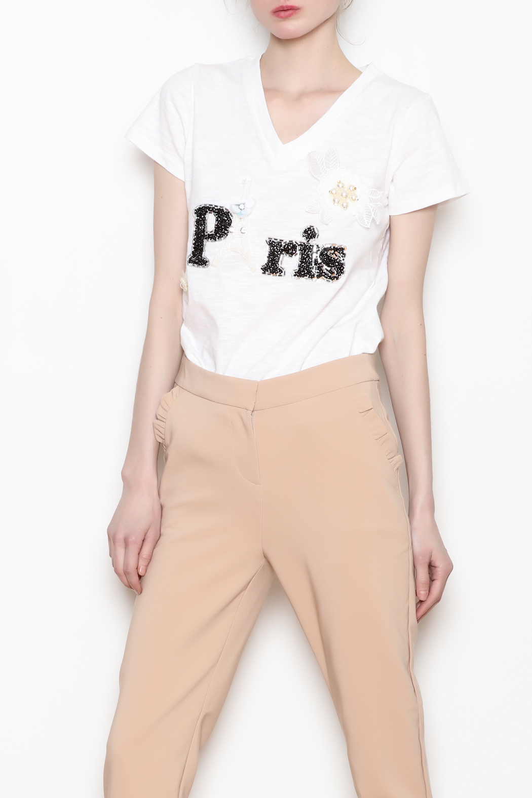 Must Have Ruffle Pocket Trousers - Side Cropped Image