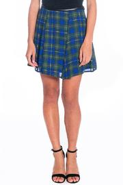 Must Have Blue-Green Plaid Skirt - Product Mini Image