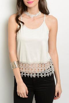 Must Have Crop Crochet Tank - Product List Image