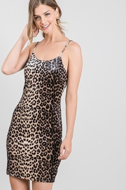 Must Have Leopard Print Velvet Sexy Evening Night Dress - Other