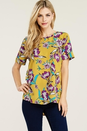 Staccato Mustard Blouse Floral - Product Mini Image