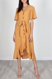 essue Mustard Button-Down Midi-Dress - Product Mini Image