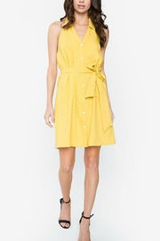 Sugar Lips Mustard Button-Up Dress - Front cropped