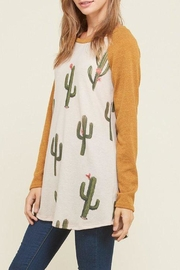 Vision Mustard Cactus Sweater - Front cropped