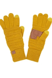 CC Beanie Mustard Cc Gloves - Product Mini Image