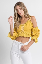 FANCO Mustard Crop Top - Product Mini Image