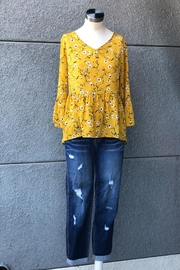 Miss Kelly Mustard Daisies Top - Front full body