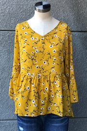 Miss Kelly Mustard Daisies Top - Product Mini Image