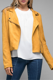 Do & Be Mustard Faux Suede Moto Jacket - Product Mini Image