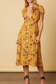 Cotton Candy LA Mustard Floral Dress - Product Mini Image