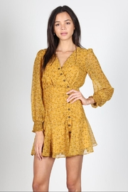 essue Mustard Floral Dress - Product Mini Image