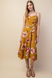 Gilli Mustard Floral Midi - Front cropped