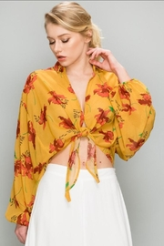 AAKAA Mustard Floral Top - Product Mini Image