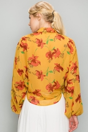 AAKAA Mustard Floral Top - Side cropped