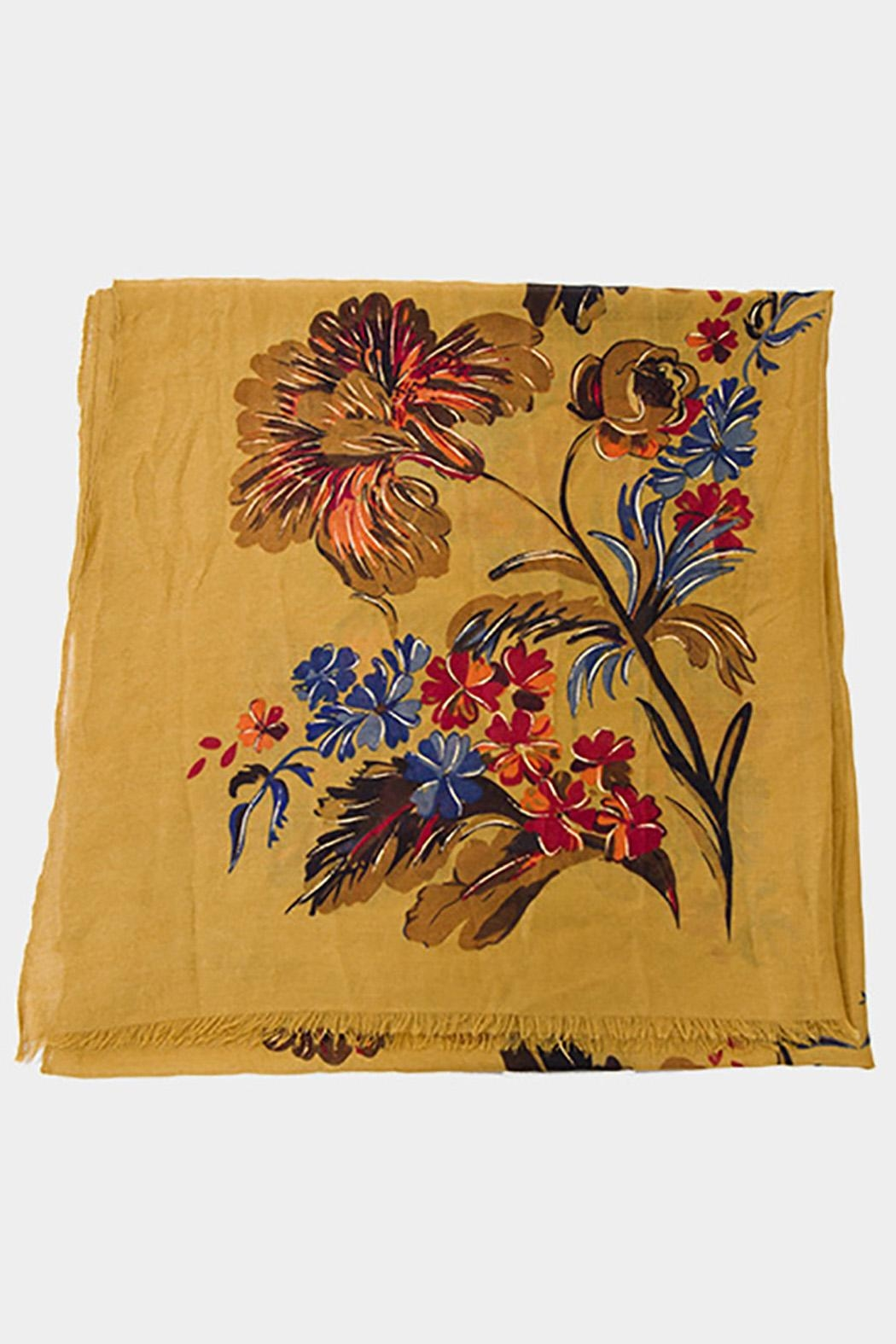 Wild Lilies Jewelry  Mustard Flower Scarf - Front Full Image